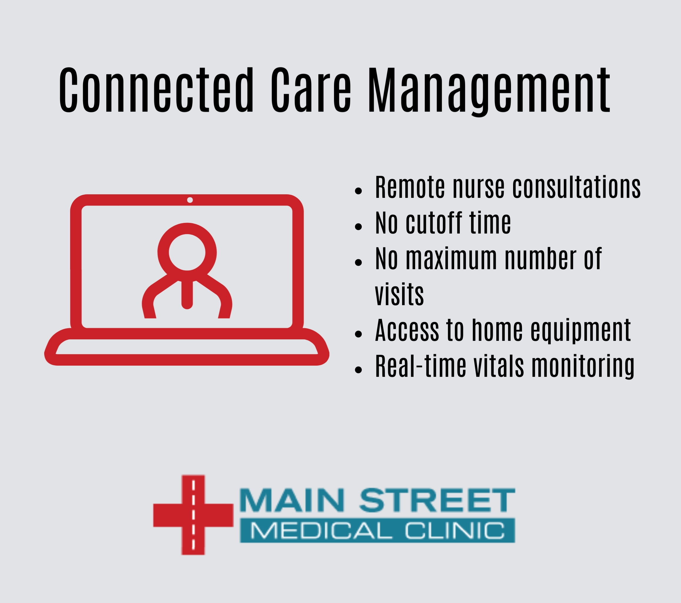 Connected Care Services at MSMC, Main Street Medical Clinics, Houston